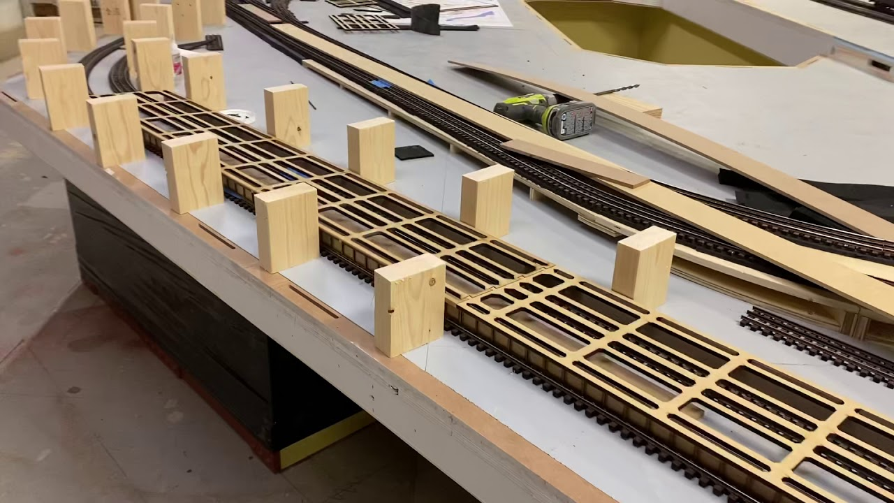 Making risers for elevated section of custom TW TrainWorx Layout!