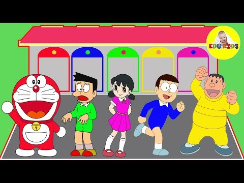 Thumbnail: Learn Colors for Kids & Doraemon, Nobita Xuka Chaien Xeko Finger Family Song Nursery Rhymes