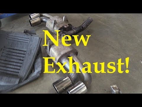 Ferrari F430 Exhaust valves and SURPRISE!  New exhaust system!