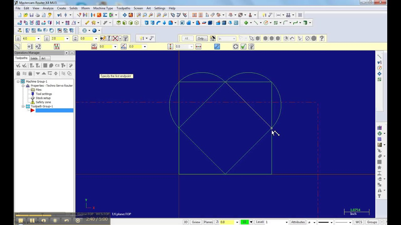 drawing the hearts in mastercam part 1 youtube rh youtube com Mastercam Latest Version Mastercam X4 Tutorials
