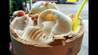 Never Seen Before | Coconut Ice Cream | FAMOUS BANGKOK STREET FOODS  | BANGKOK MIDNIGHT STREET FOODS
