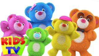 Teddy Bear Finger Family | Teddy Bear Teddy bear Turn Around | Nursery Rhymes Songs | Kids Tv