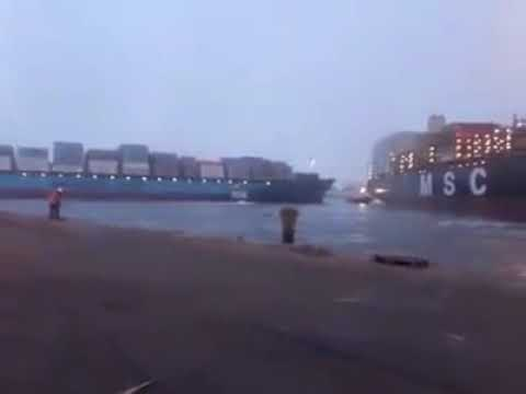 Ship Collision between MSC and Mearsk in Callao Peru