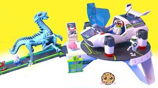 Cookie Mess ! Playmobil Space Alien + Shopkins Play Video - Cookie Swirl C