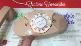 1969 Beige Bell System Western Electric Princess 702B Rotary Telephone