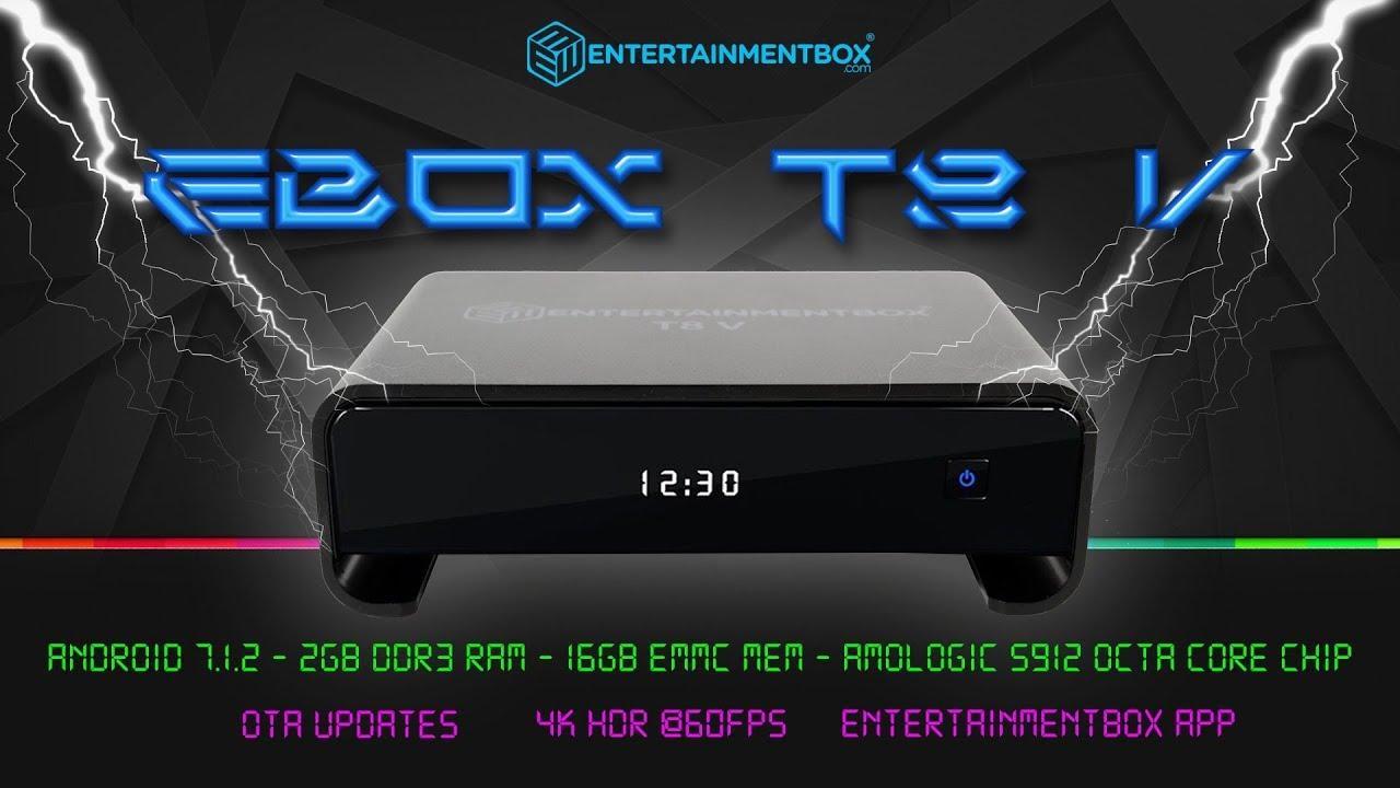 Best Kodi box 2018 EBox T8 V Android 7 1 2