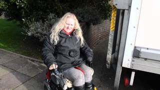 Inconsiderate drivers block disabled person Thumbnail