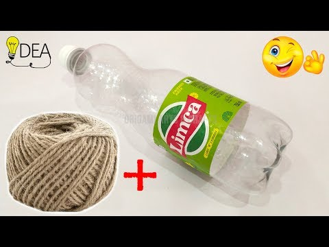 DIY Bottle Crafts 💡 Best Out of Waste Ideas 🏡 Jute Crafts Ideas 🎉 Home Decoration Ideas