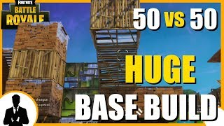 50 vs 50 HUGE BASE BUILD (Fortnite Battle Royale) EPIC WILL KEEP THIS MODE?