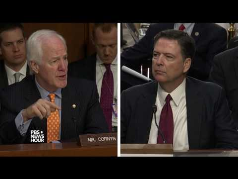 Comey to Sen. Cornyn: FBI agents have duty to report crime