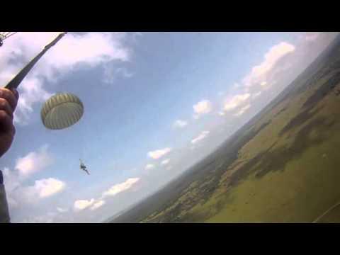 U.S. Army Airborne Soldiers Jump in Ukraine!  Rapid Trident 2011!