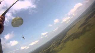 UKRAINE!  173rd Airborne Brigade Combat Team Jump From C-130 During Rapid Trident 2011!