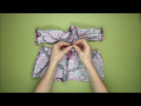 Rag Doll Outfit Making  - Traditional Dress Part 3  - The Dress Skirt  - Alice's Bear Shop
