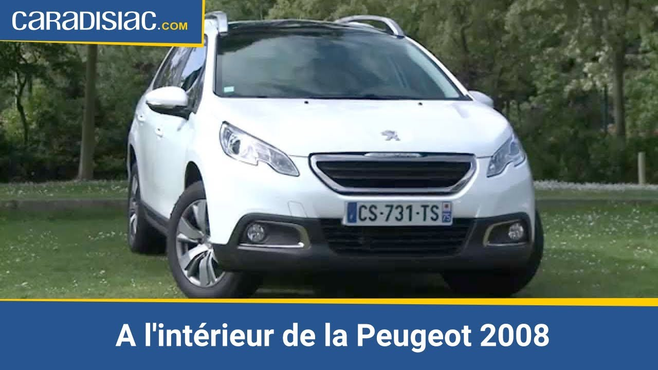 A l 39 int rieur de la peugeot 2008 youtube for Interieur peugeot 2008