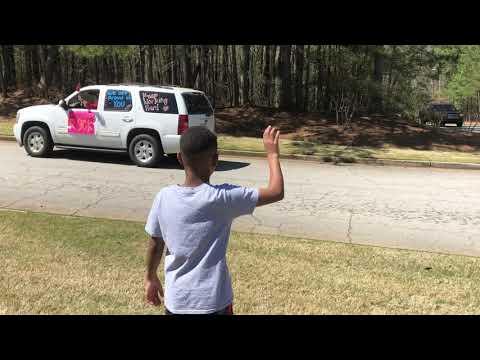 South Douglas Elementary School Car Parade March 25, 2020