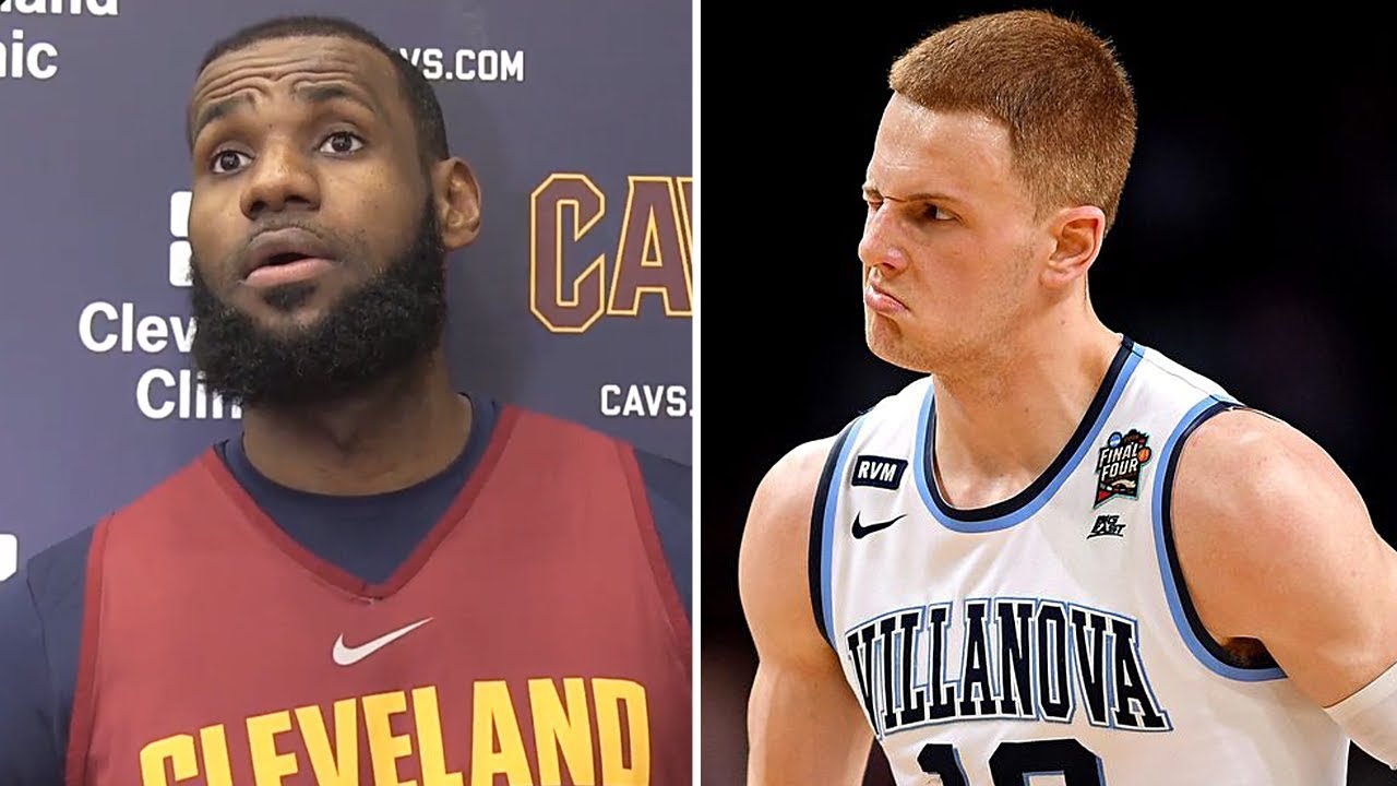 outlet store 10438 1b0d2 LeBron James Reacts To Villanova Winning, Donte DiVincenzo s Huge Game,  Playing All 82 Games,   More