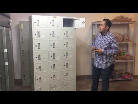 24 door locker Office Metal Box Lockers Cabinets Storage School GymLOCKER Vertical Filing file