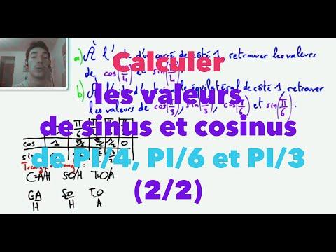 cosinus sinus tangente exercices 3ème