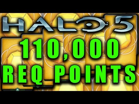 110,000 REQ Point Spending Spree! Halo 5 Guardians Pack Opening!