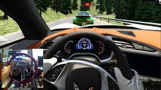Assetto Corsa GoPro - 4 Man Online Mountain Cruise - C7 Corvette