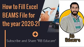#BEAMS, How to fill Excel file of BEAMS for the year 2020 21