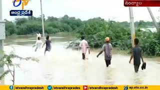 Dumping Municipal Tractor Skids Off  In Maddileru Vagu  At Nandyal