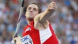 Moscú 2013, Jabalina, el Checo Vitezslav Vesely, medalla de Oro