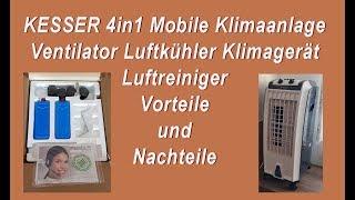 Kesser mobile Klimaanlage 4 in 1, Erfahrungen, Test, Vorteile und Nachteile