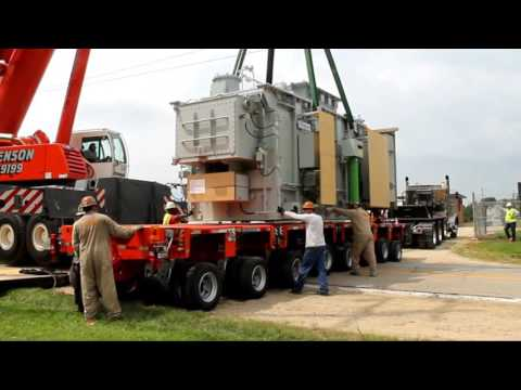 Rigging Project: Power Sub-Station Transformer Move With Goldhofer