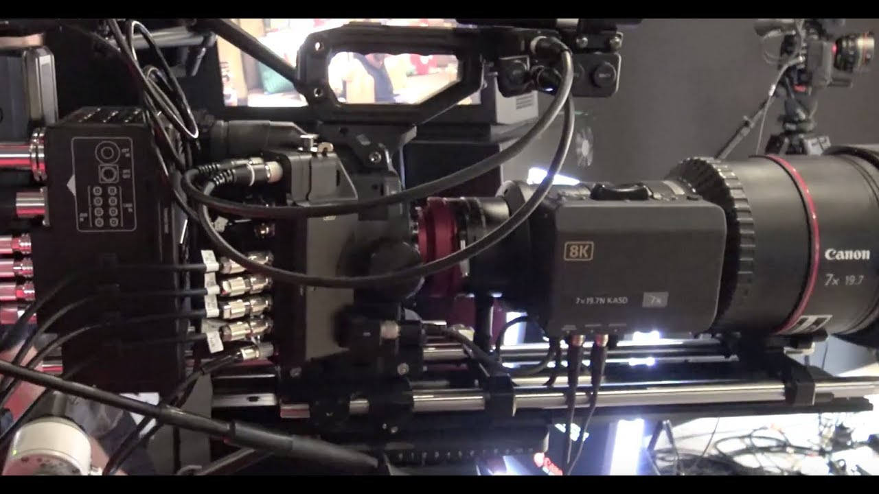 Canon 8K Camera & 8K TV Monitor Prototype Display demos