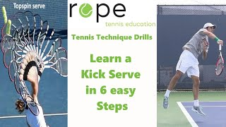 "Tennis Drills - Technique Development - ""Kick Serve Progression"""