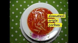 domatesli erişte çorbası nasıl yapılır -lezzet dünyası