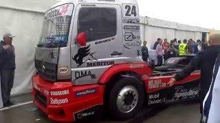 Race truck Mercedes-Scania engine sounds