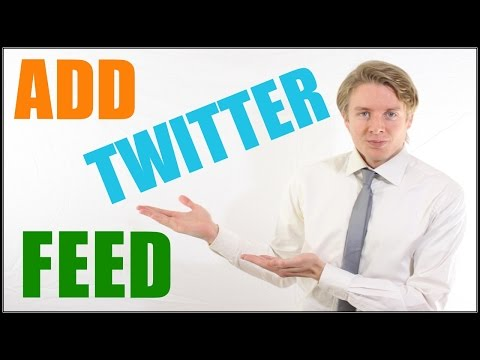 How To Add Twitter Feed Widget In Wordpress Tutorial 2016