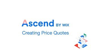 Creating Price Quotes in Wix - Acsend by Wix Tutorial