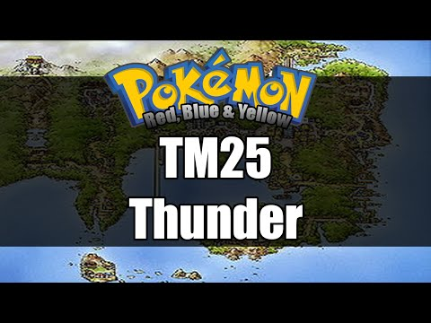 Pokemon Red/Blue/Yellow - Where To Get TM25 Thunder