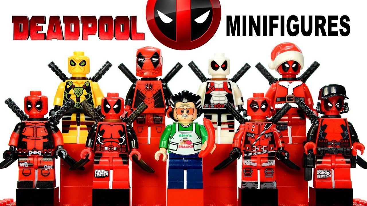 New 6pcs Deadpool deathstroke Venompool XMEN 's Deadpool ... |Lego Marvel Superheroes Deadpool Set