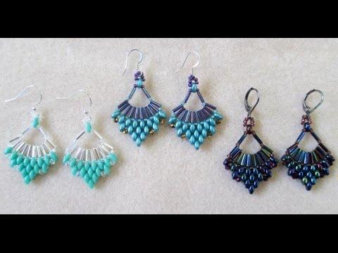 how to make beautiful beaded earrings