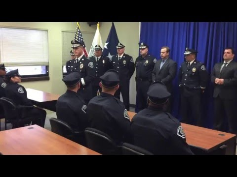 Chief Thomson addresses new officers - 12-22-15