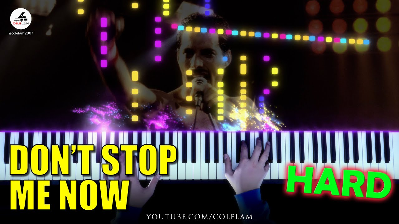 Queen Don't Stop Me Now Piano Tutorial HARD   Cole Lam