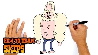 How to Draw Skips | Regular Show