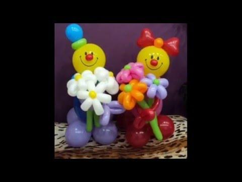 Цветок из воздушных шаров шдм /Flower of balloons.✿