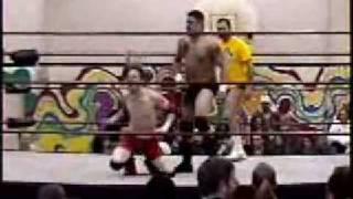 CWFFANCAM presents CWS wrestling Lee Valiant vs Lumbee warrior