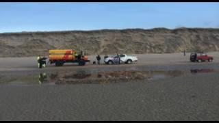 Jutter vindt menselijke resten op het strand