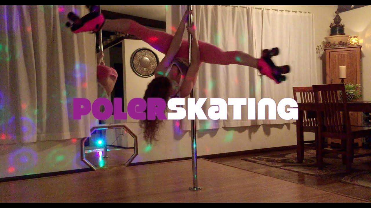 Roller skates dance - Polerskating Pole Dancing In Roller Skates