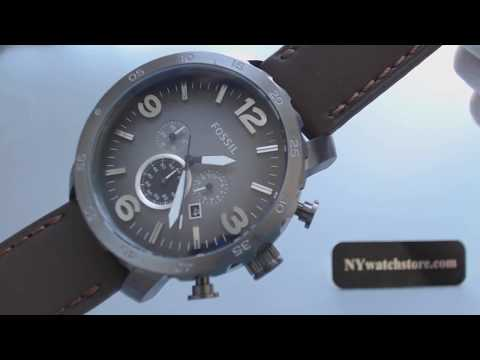 ae937c0fc Men's Fossil Nate Chronograph Watch JR1424 - YouTube