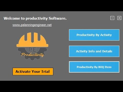 Construction Productivity Rate PC Software