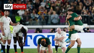 England lose to South Africa in World Cup final