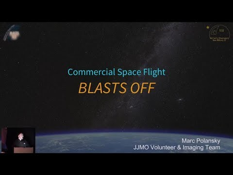 Second Saturday Stars 1/14/2017: Commercial Space Flight Blasts Off