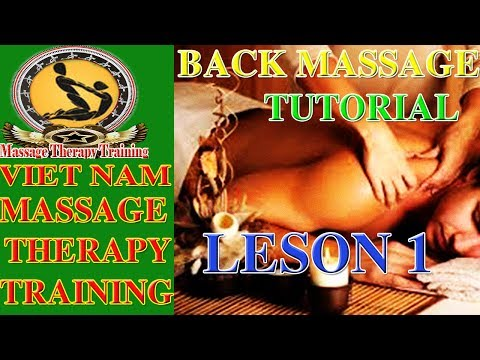 Massage Therapy | Basic Back Massage Tutorial | Cupid Spa | Lesson 1
